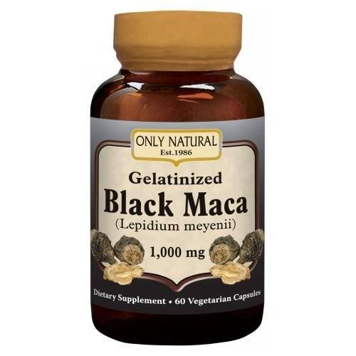 Only Natural Gelatinized Black Maca Supplement - 1000mg, 60ct