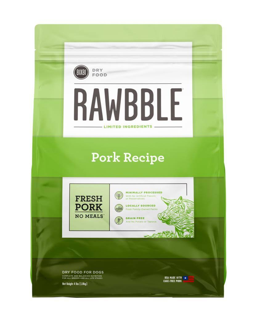 Rawbble Pork Recipe Dry Dog Food