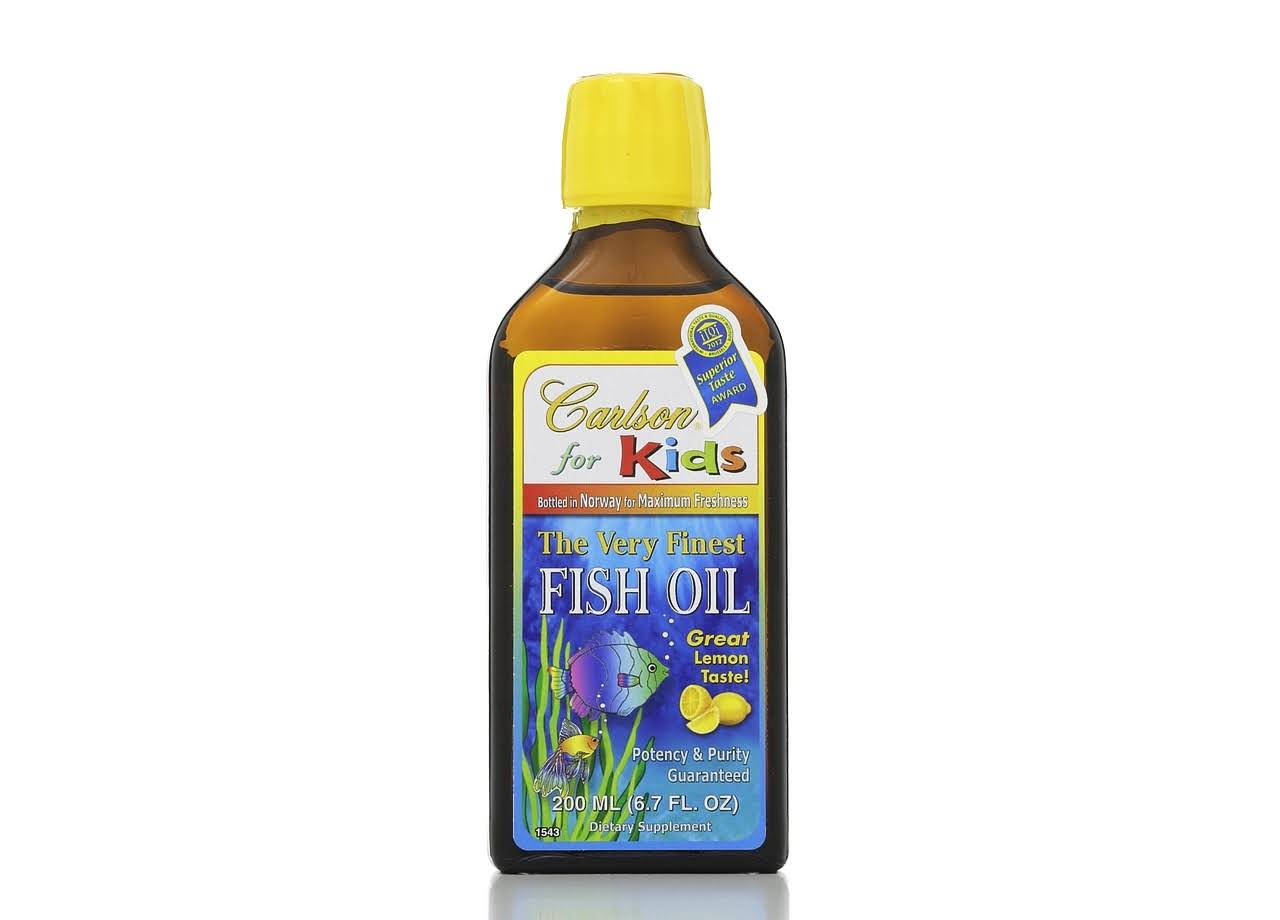 Carlson for Kids Very Finest Fish Oil - Lemon, 6.7 oz