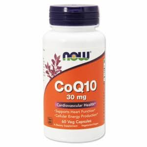 NOW CoQ10 - 60 Veg Capsules, 30mg