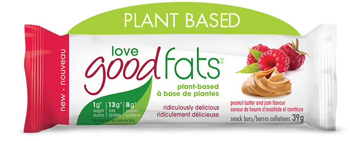 Love Good Fats Peanut Butter and Jam Bar, 39 Gr