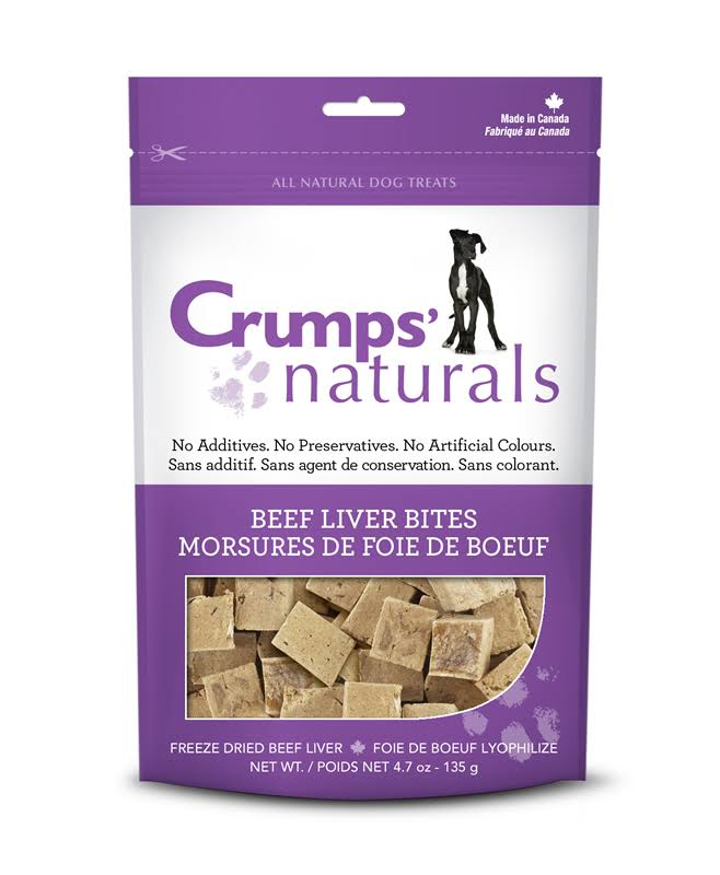 Crumps' Naturals Beef Liver Bites for Dogs - 4.7 Oz