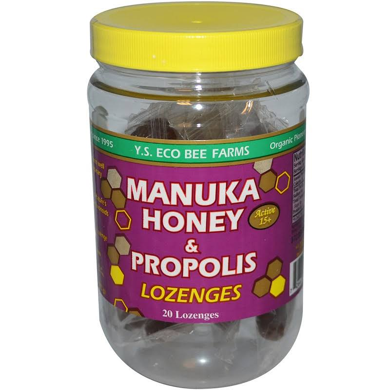 YS Eco Bee Farms Manuka Honey & Proplis Lozenges - 20 count