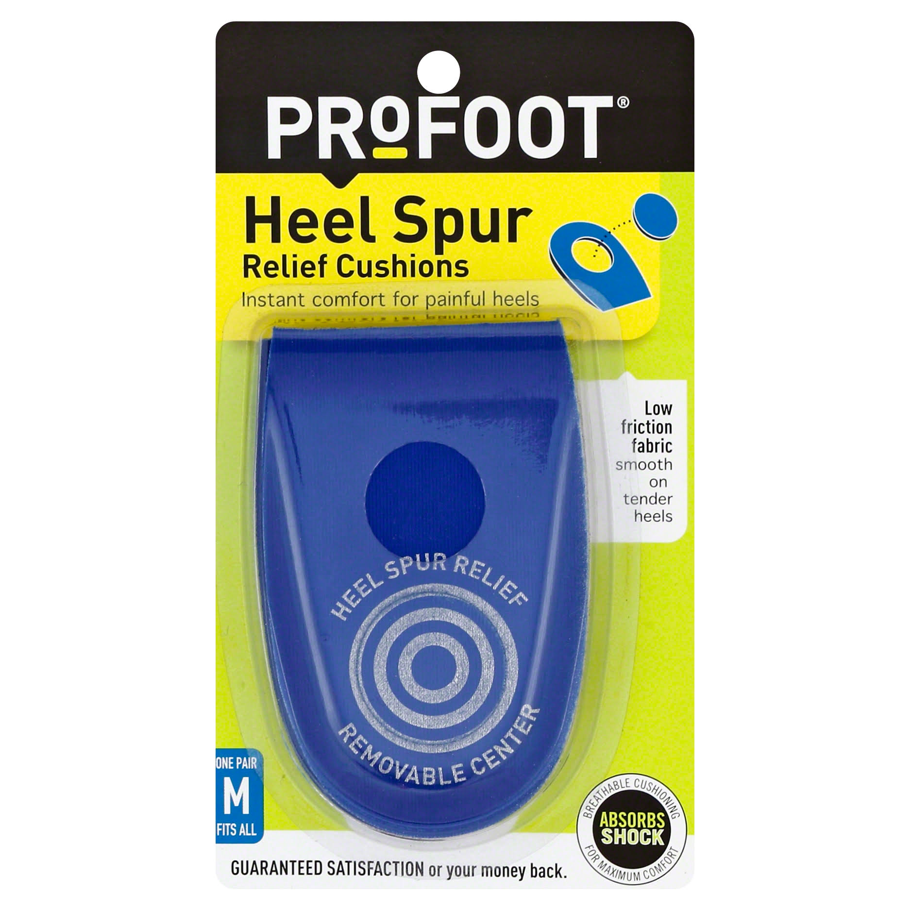 Profoot Heel Spur Relief Cushions, Men's, Fits All