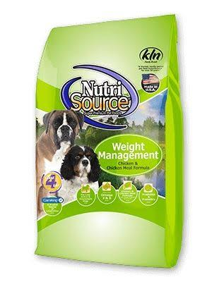 NutriSource Weight Management Dog Food - Dry, Chicken and Chicken Meal, 6.80kg