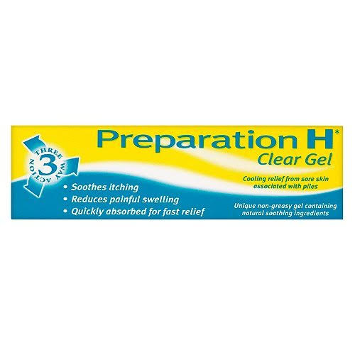 Preparation Haemorrhoid Relief Gel - Clear, 25g