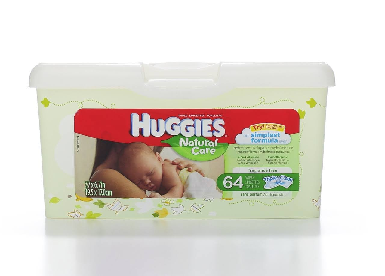 Huggies Natural Care Wipes - 64 Pack