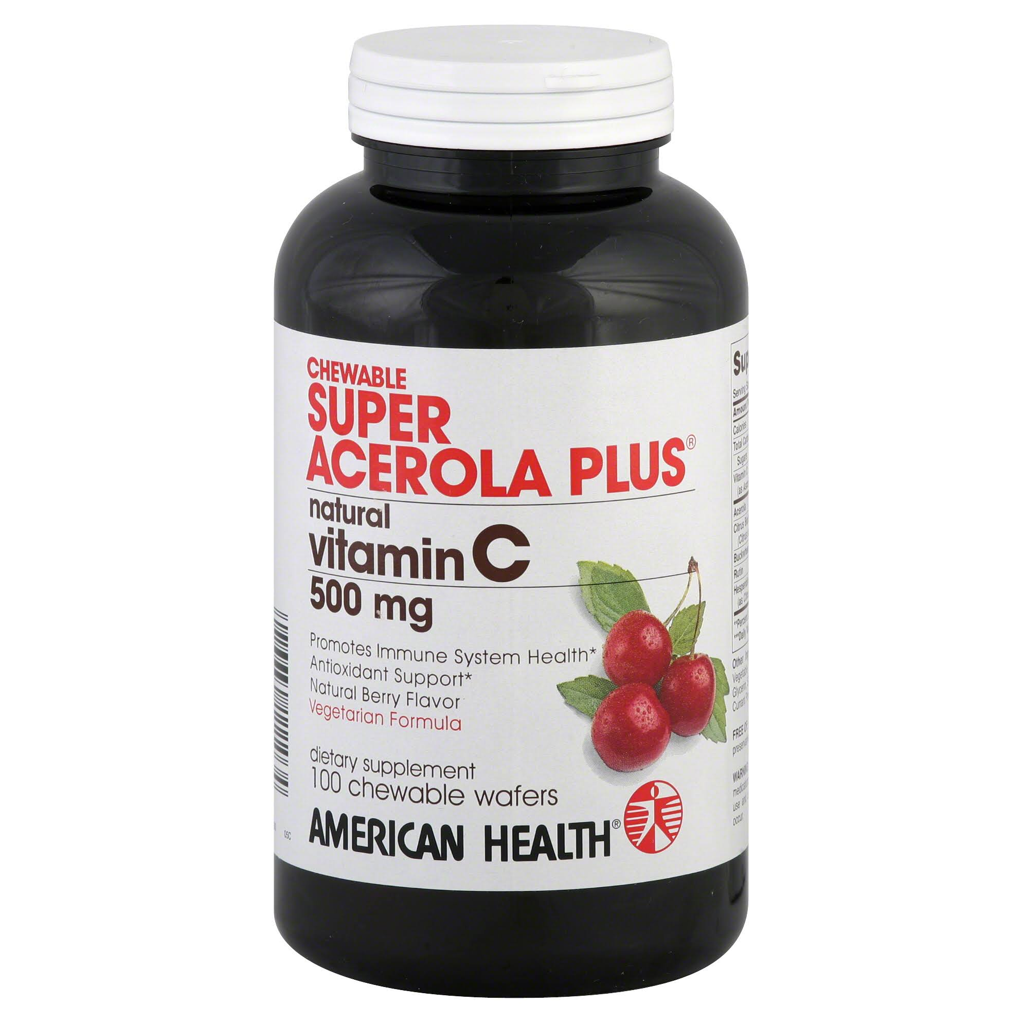 American Health Super Acerola 500mg Plus Chewable Wafers - 100 Wafers