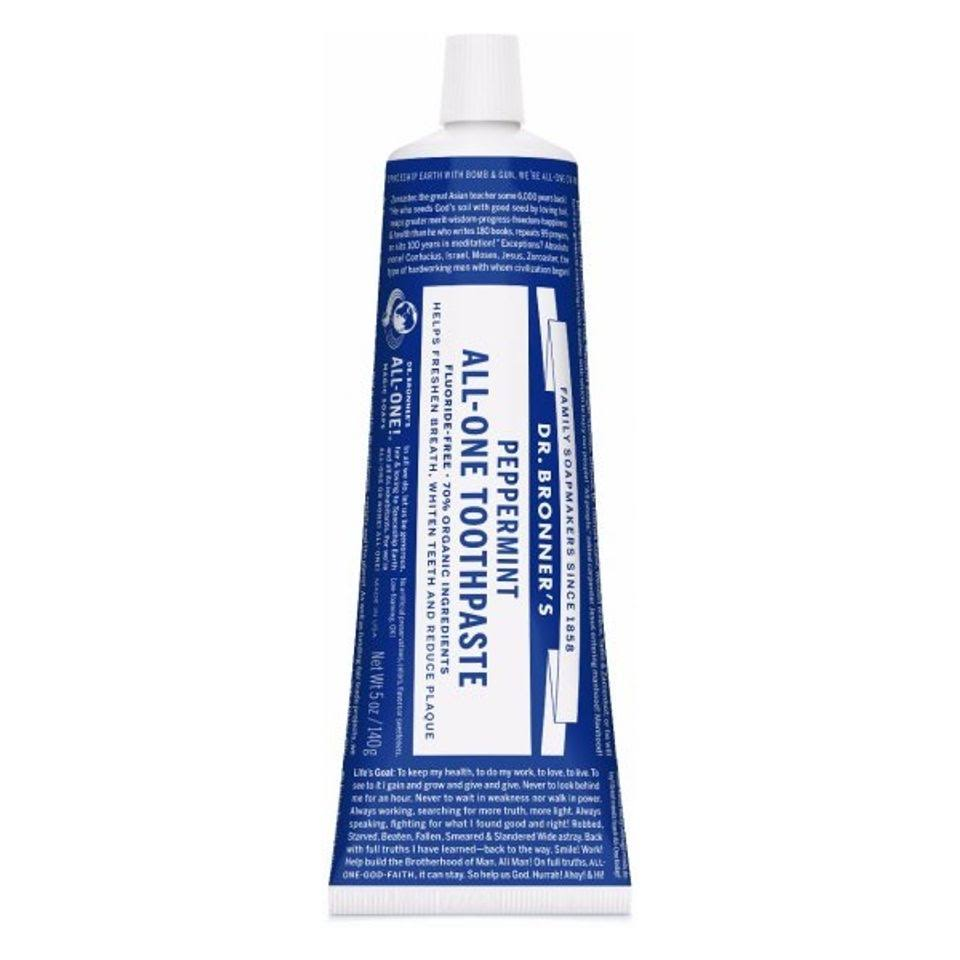 Dr. Bronner's All One Toothpaste - Peppermint, 140g