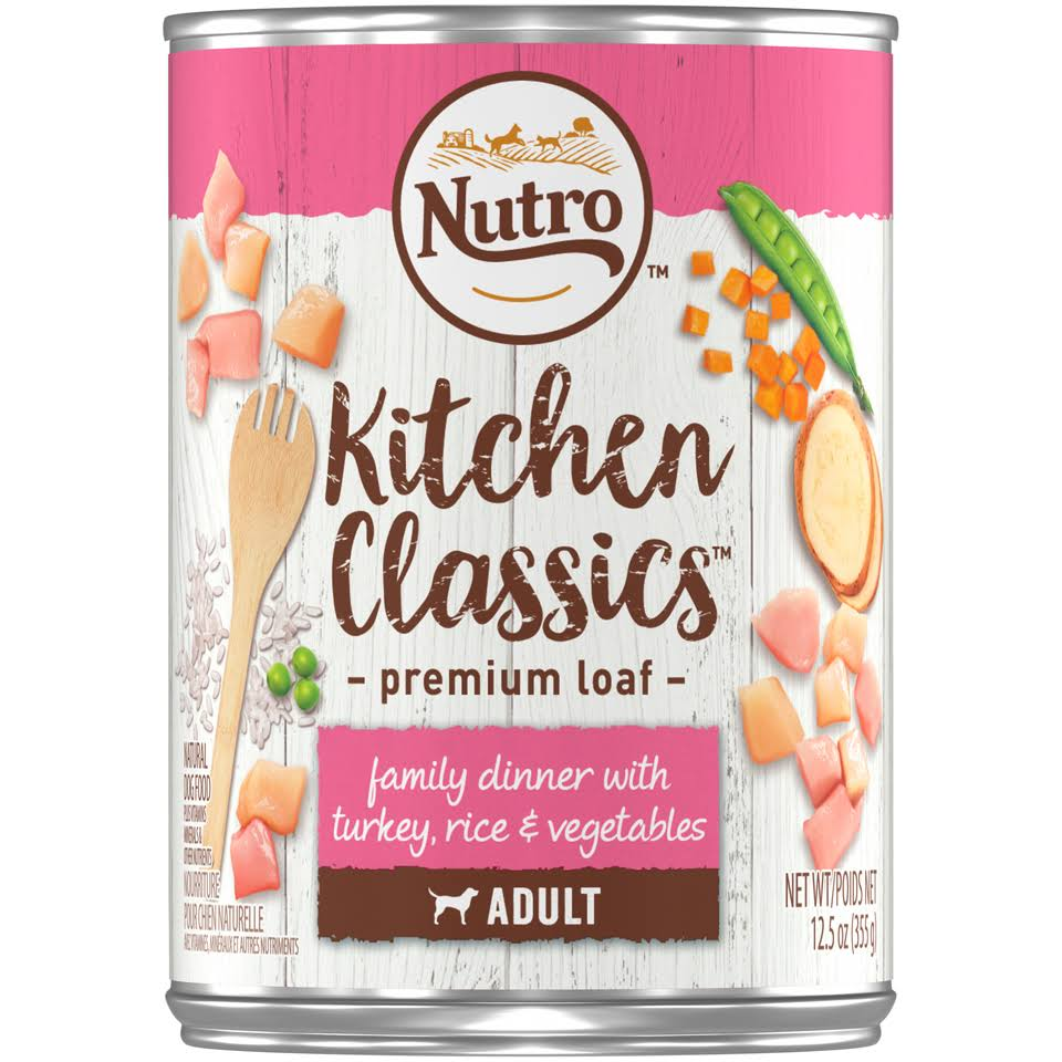 Nutro Kitchen Classics Dog Food - Turkey & Rice Recipe