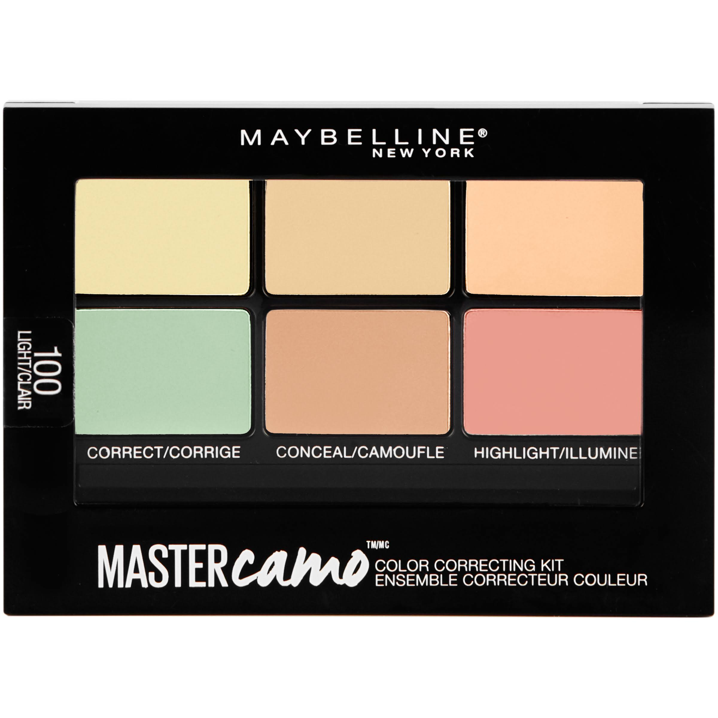 Maybelline New York Master Camo 100 Light Color Correcting Kit - 0.21oz