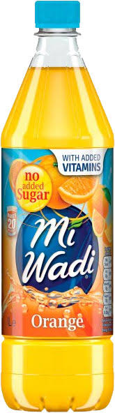 MiWadi Orange No Added Sugar - 1L