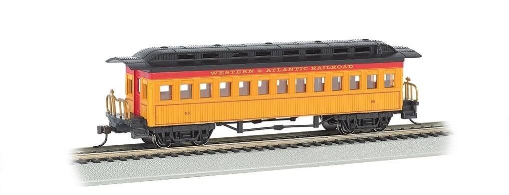 Bachmann Industries 1860-1880 Passenger Cars Coach Western & Atlantic Railroad - HO Scale