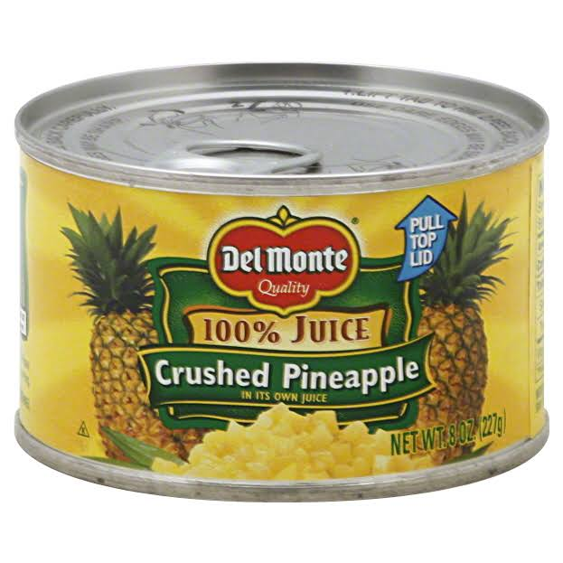 Del Monte Crushed Pineapple, In Its Own Juice - 8 oz