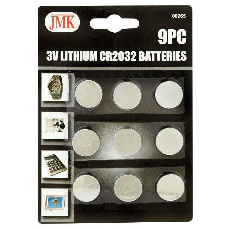 JMK Lithium batteries, 3V - 9 count