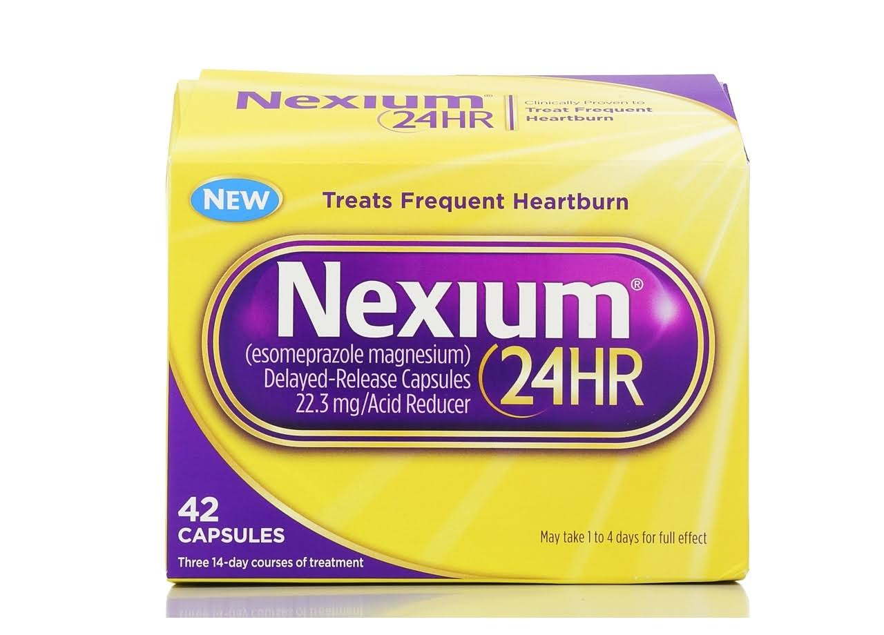 Nexium 24 Hour Delayed-Release Capsules 22.3 mg/Acid Reducer - 42 Pack