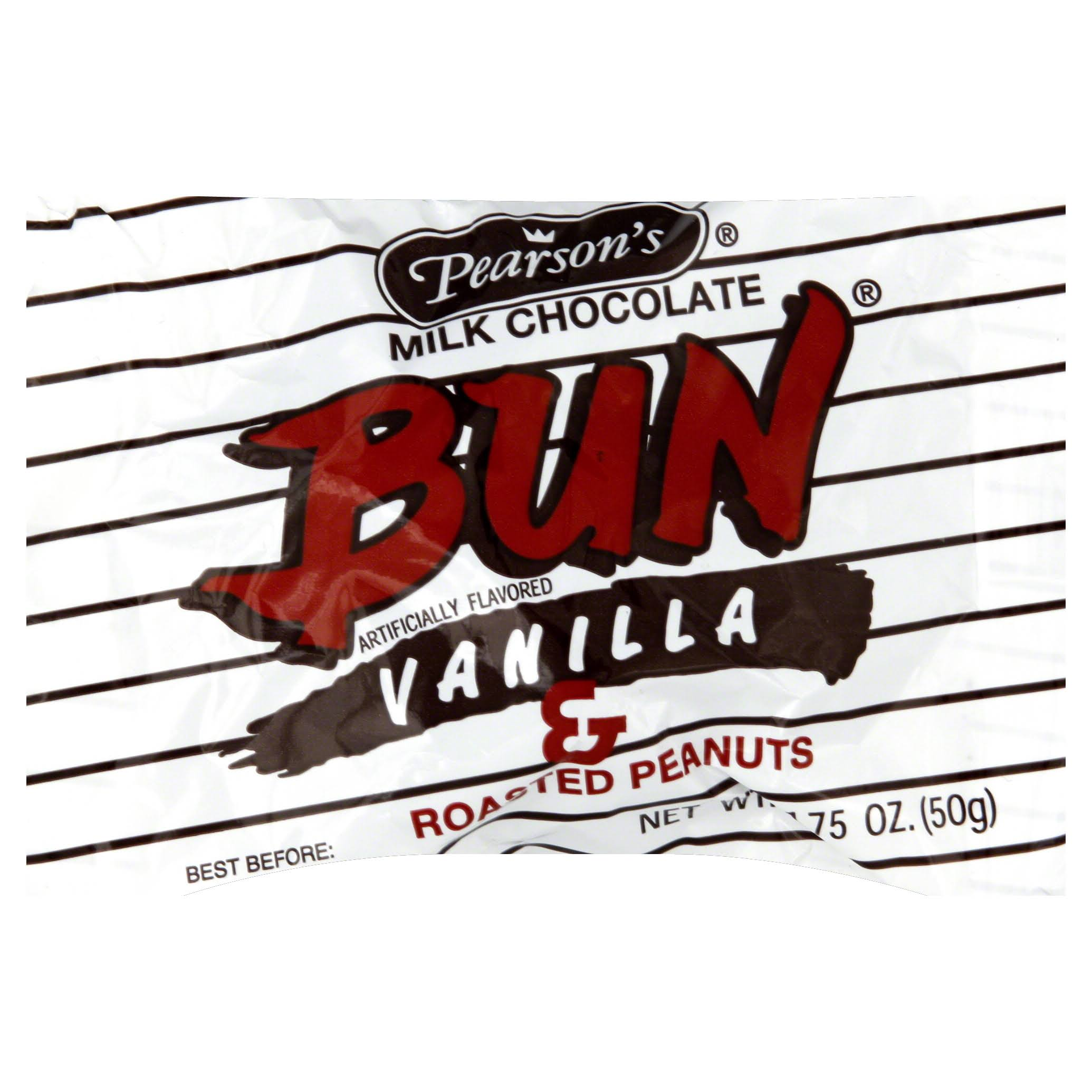 Pearson's Milk Chocolate Bun - Vanilla & Roasted Peanuts, 1.75oz