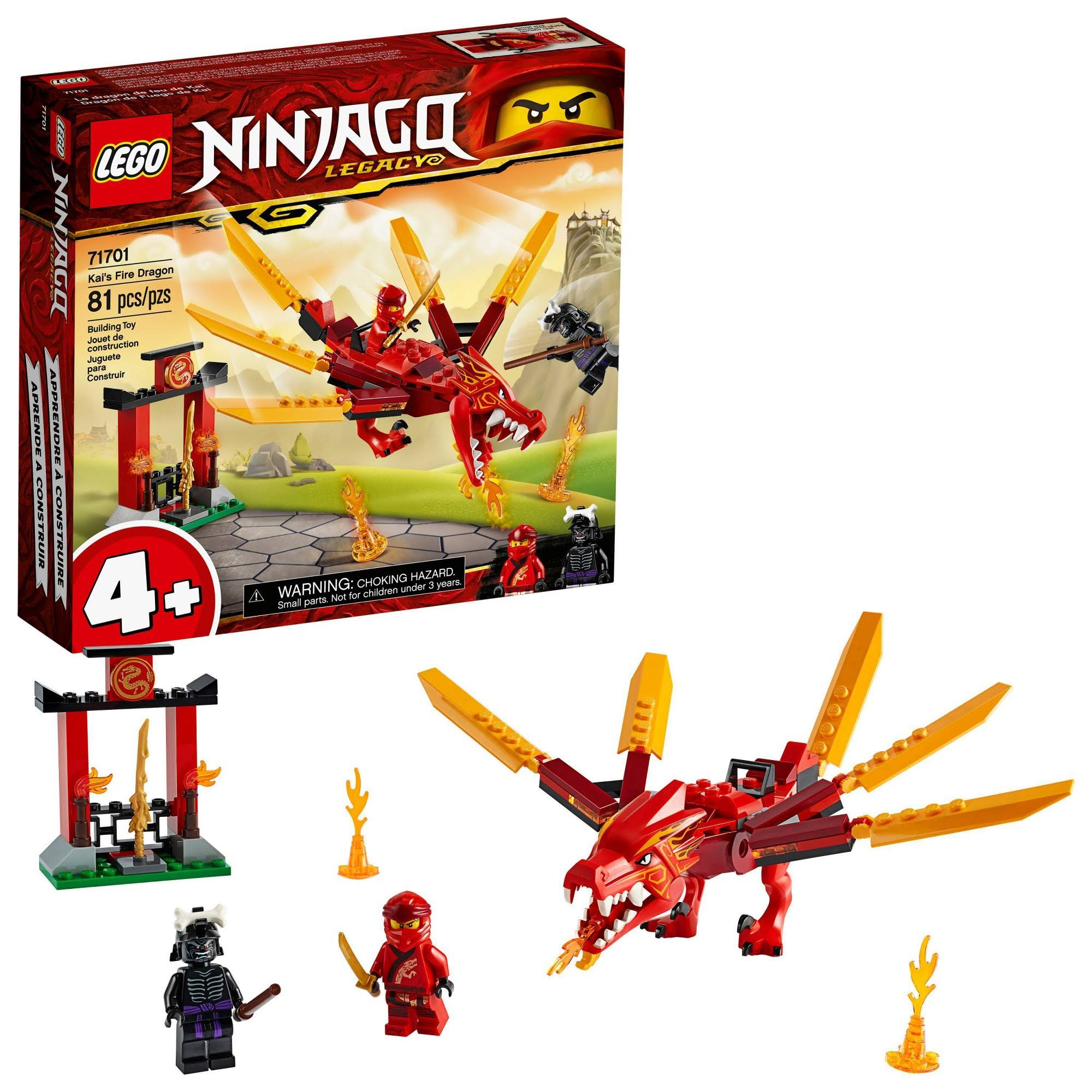 Lego Ninjago Legacy Kai's Fire Dragon 71701 Building Kit