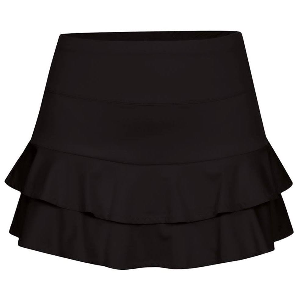 Tail Women's Doubles Flounce Tennis Skirt - Black, Medium, 13.5""