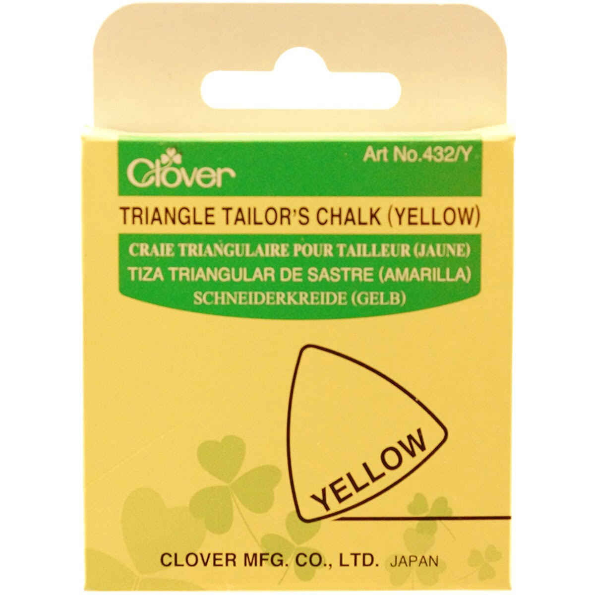 Clover Triangle Tailors Chalk - Yellow