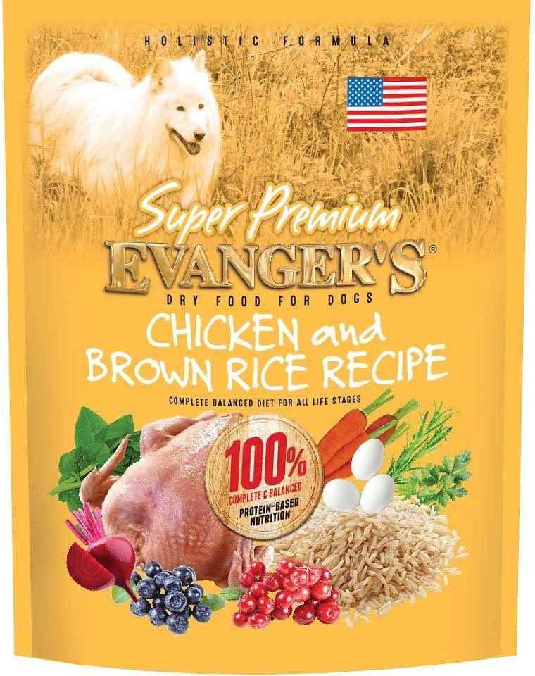 Evanger's Super Premium Dog Food - Chicken & Brown Rice, 33lbs