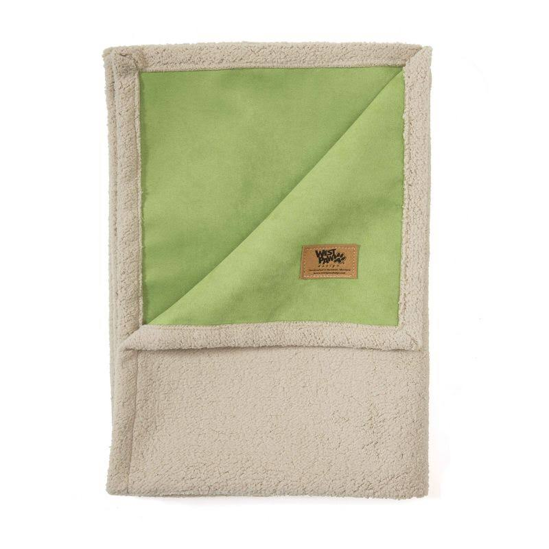 "West Paw Big Sky Blanket Flat Mats Dog Bed - Large, Jade, 73"" X 56"" X 1"""