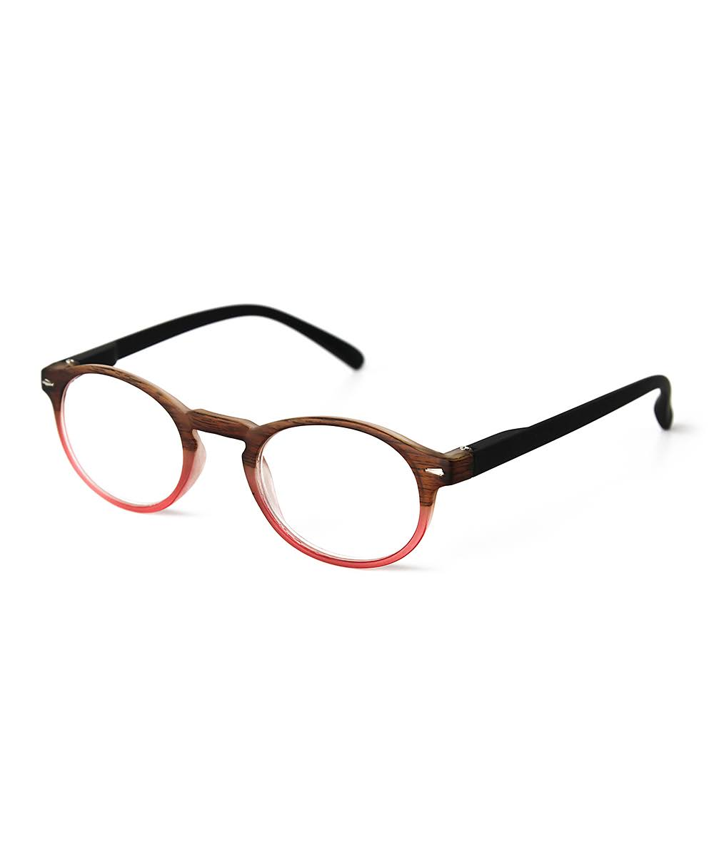 Optimum Womens Brown & Pink Multi Reading Glasses