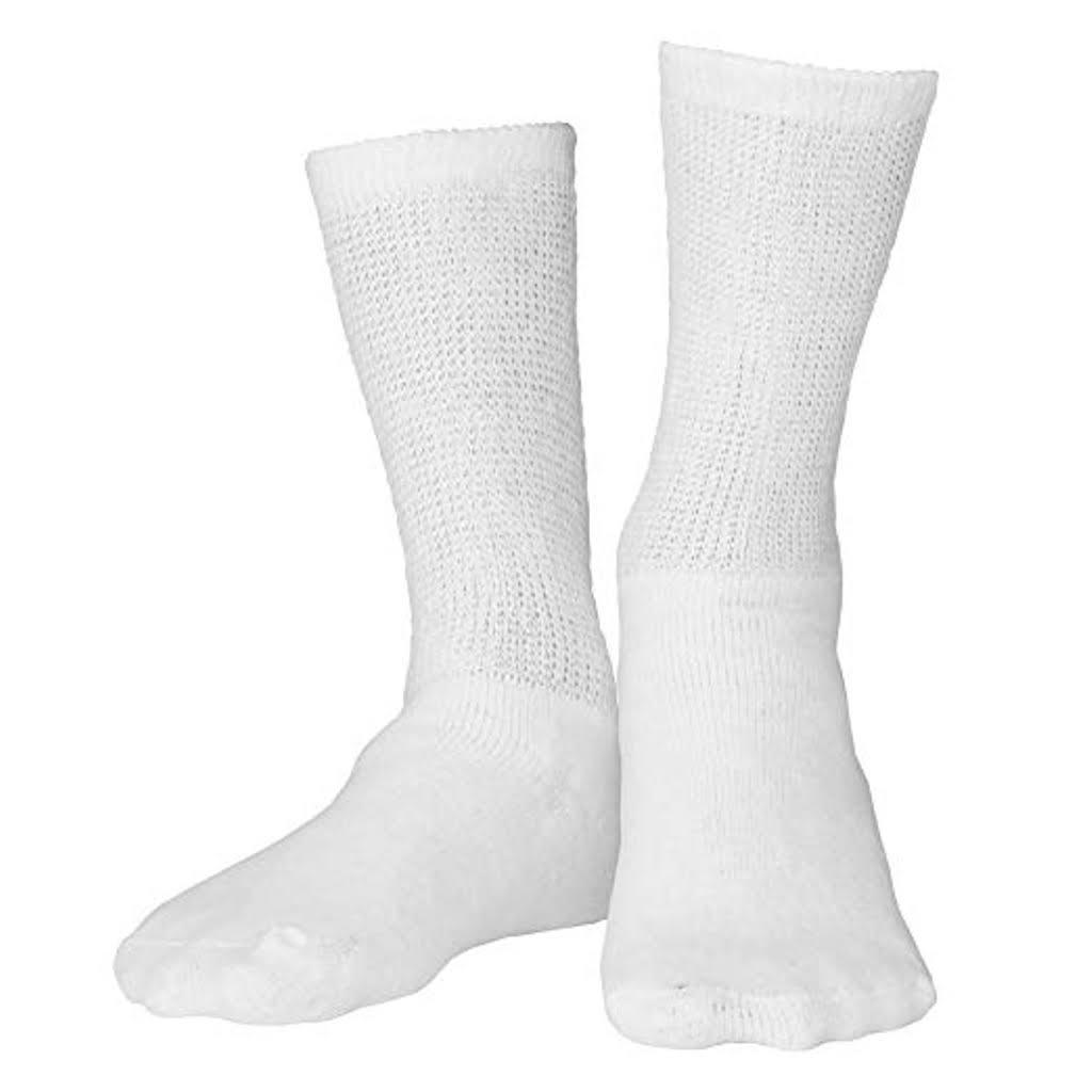 Truform Diabetic Socks - White, Medium