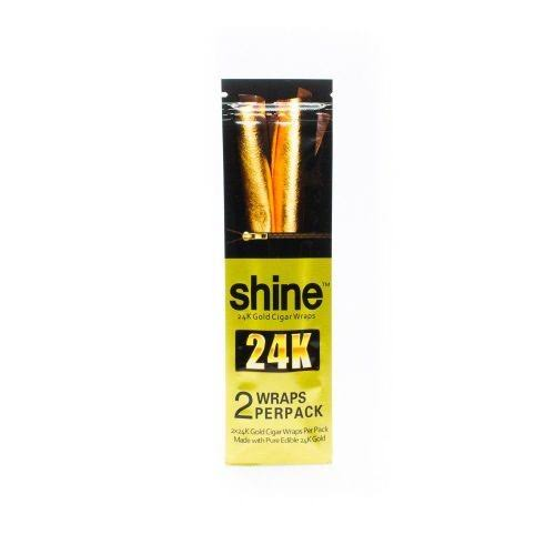 Shine 24K Gold Cigar (Brown) Wraps 2 per Pack