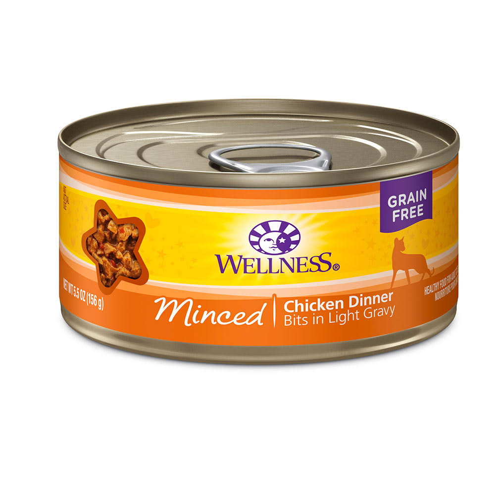 Wellness Minced Cat Food - Chicken Dinner Bits In Savory Gravy