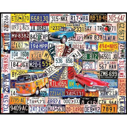 White Mountain Jigsaw Puzzles - Licence Plates, 1000pcs