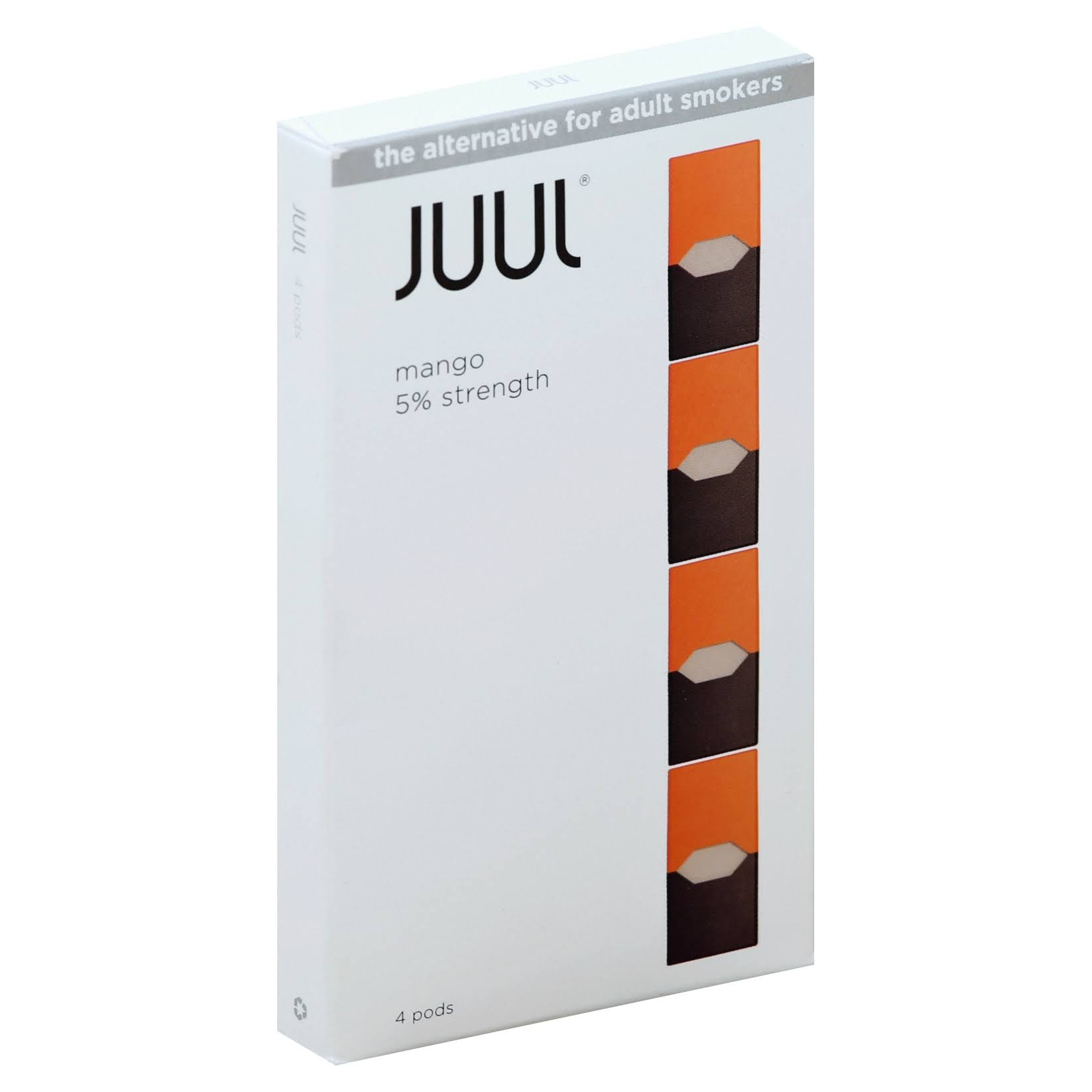JUUL Cartridges, Mango - 4 pods