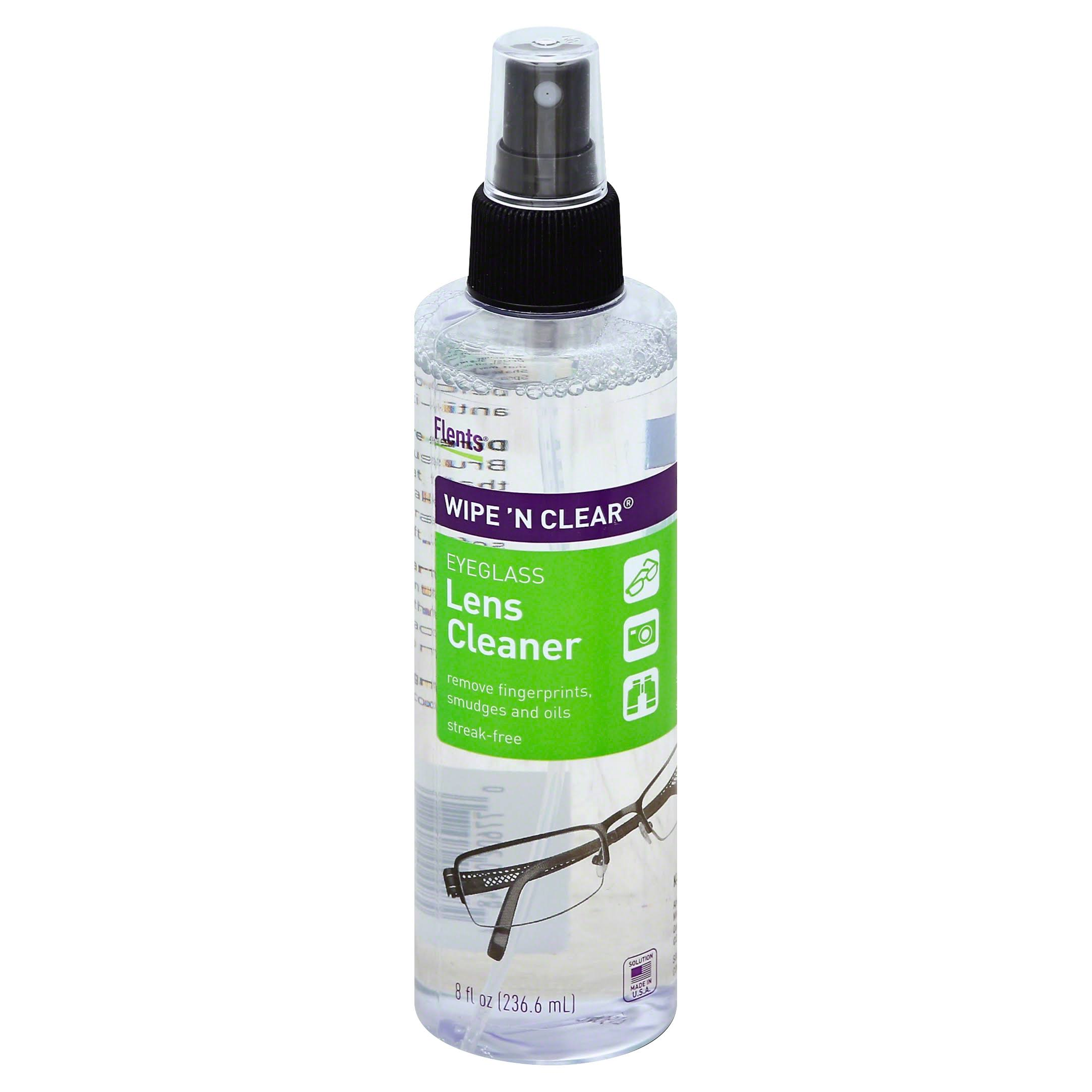 Flents Wipe 'N Clear Eyeglass Lens Cleaner - 8oz