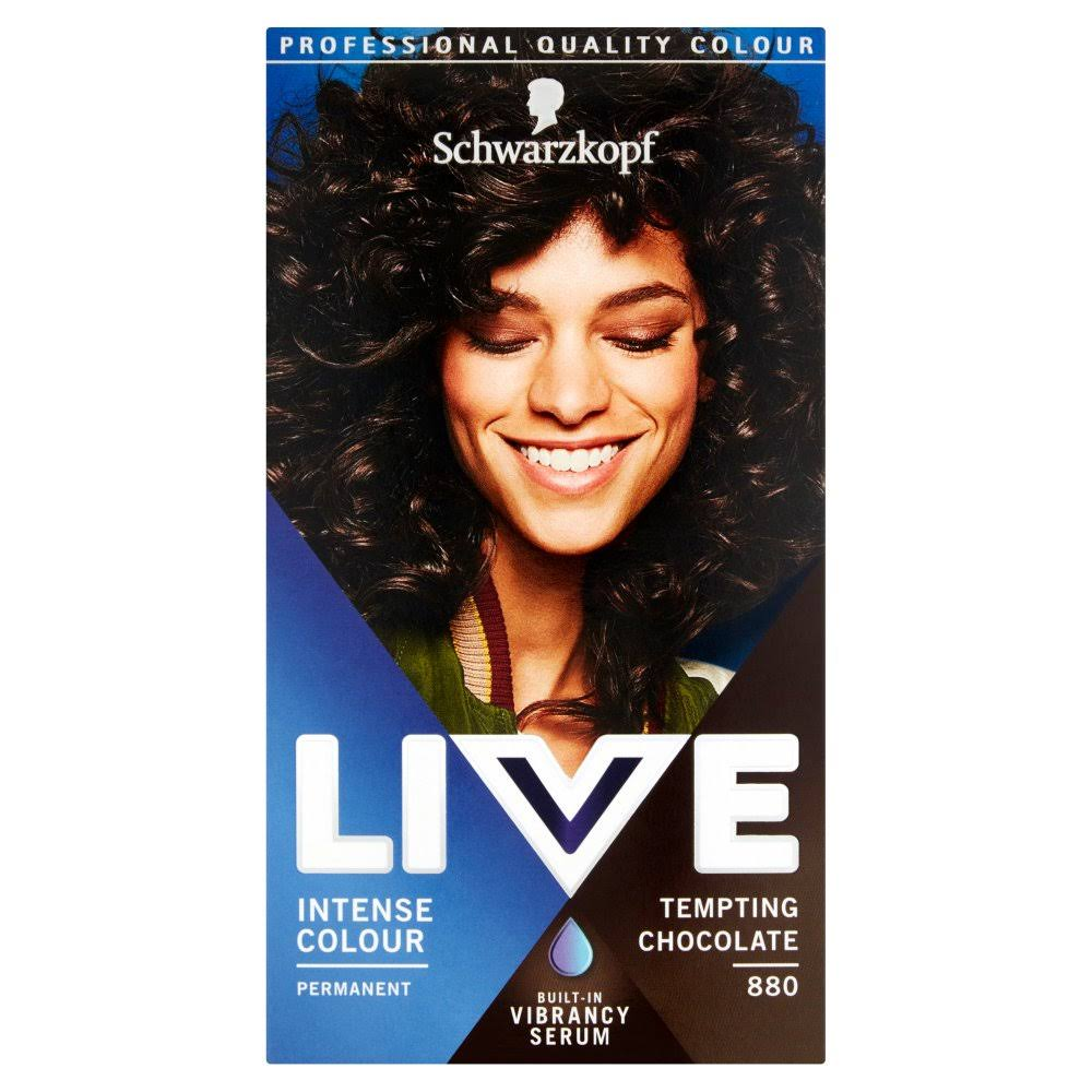 Schwarzkopf Live Intense Colour Permanent Hair Dye - 880 Tempting Chocolate