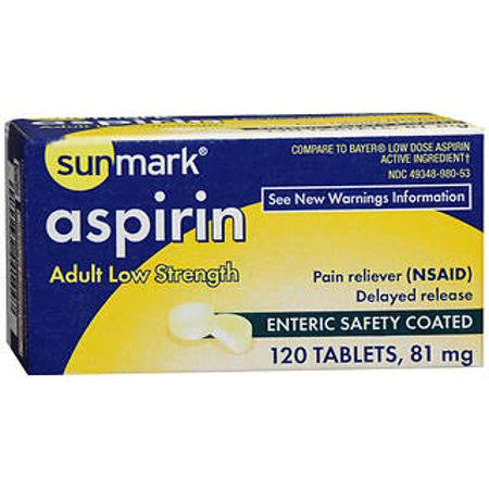 Sunmark Aspirin Adult Low Strength Enteric Safety