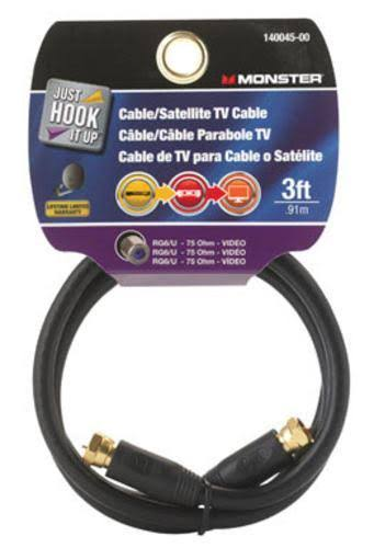 Monster Video Coaxial Cable - 75 Ohm, 3'