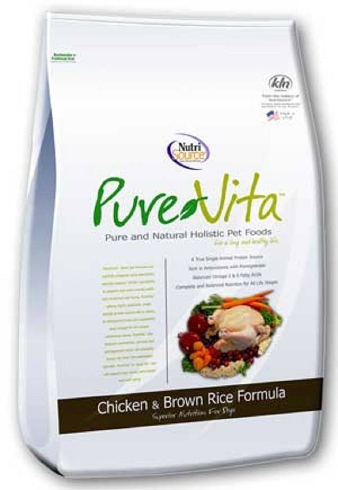 NutriSource Pure Vita Dry Dog Food - Chicken & Brown Rice, 25lb