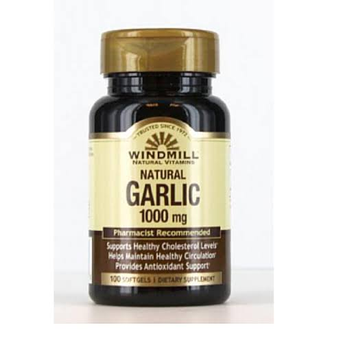 Windmill Natural Garlic Oil - 100 Soft Gels, 1000mg