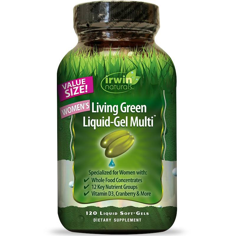 Irwin Naturals Living Green Multi Liquid-Gel - 120 Liquid Softgels