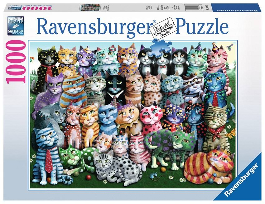 Ravensburger Cat Family Reunion Jigsaw Puzzle - 1000 Pieces