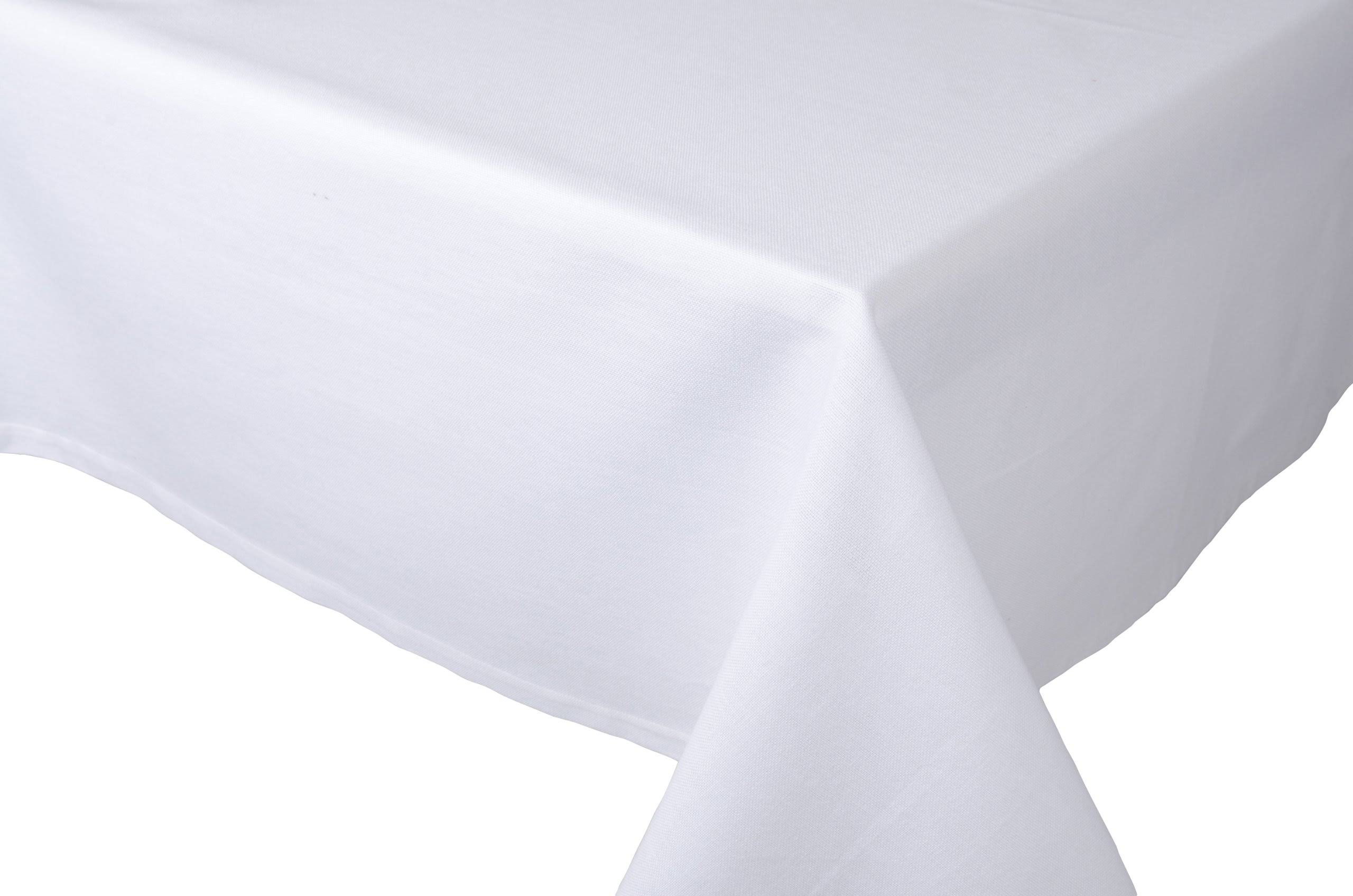 Now Designs 60 by 120-Inch Spectrum Tablecloth, White