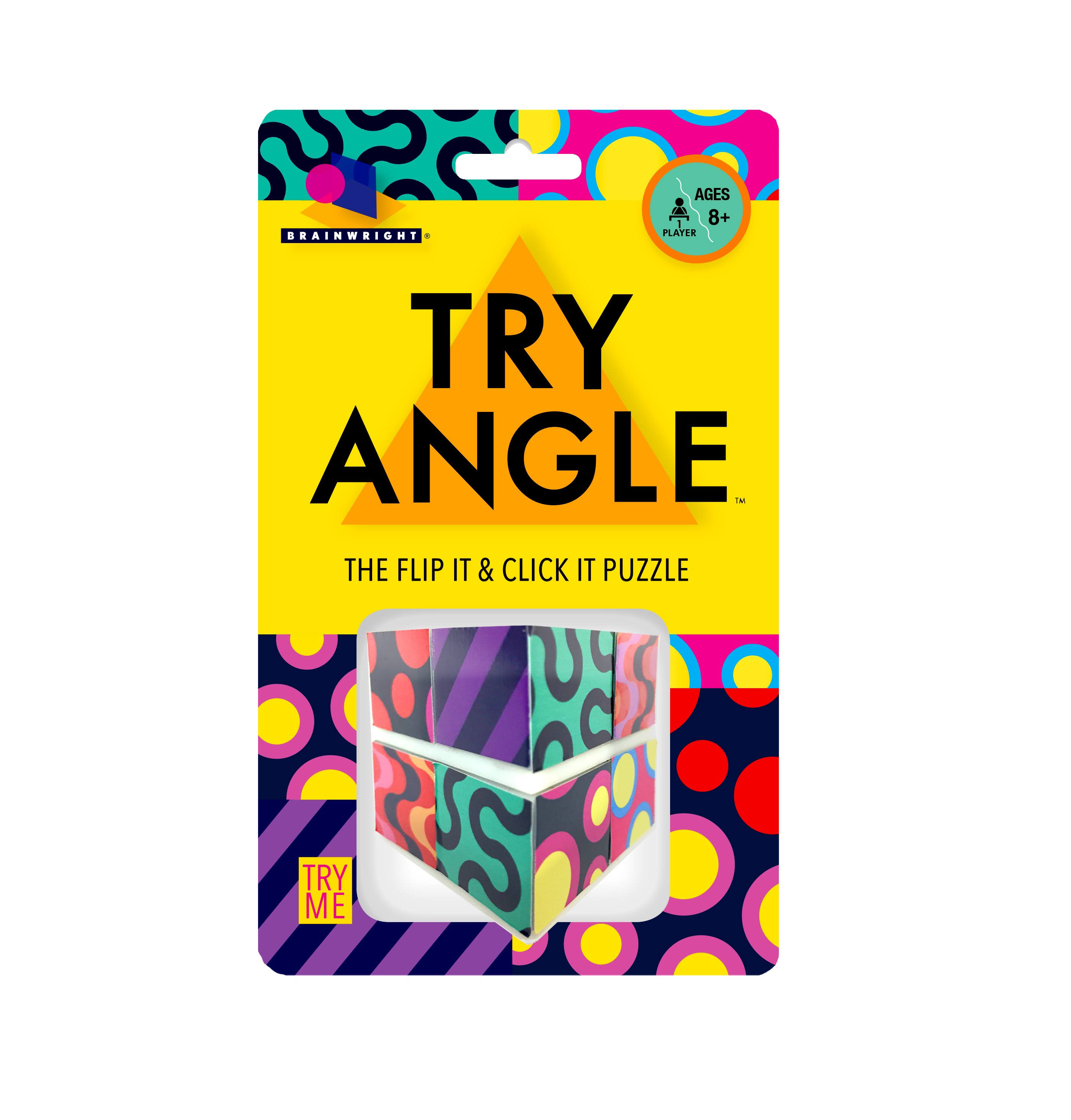 Brainwright Try Angle - The Flip It & Click It Puzzle