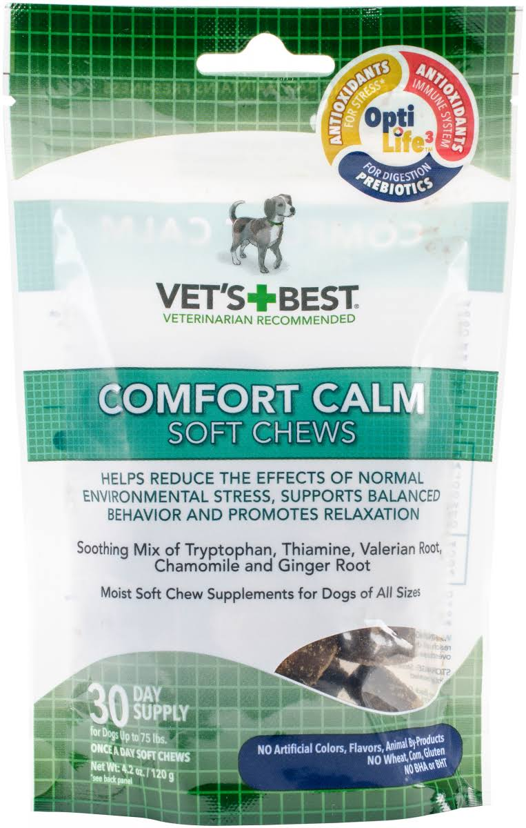 Vet's Best Comfort Calm Dog Soft Chews - 30 day
