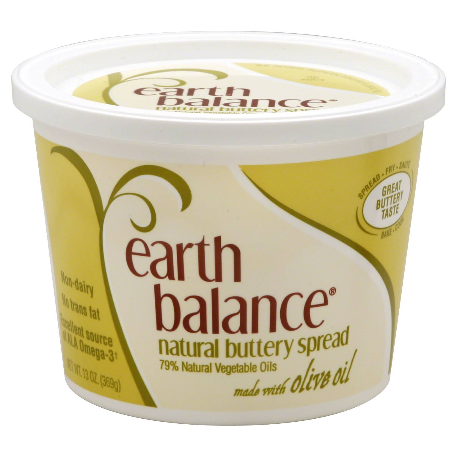 Earth Balance Buttery Spread - With Olive Oil, 13oz