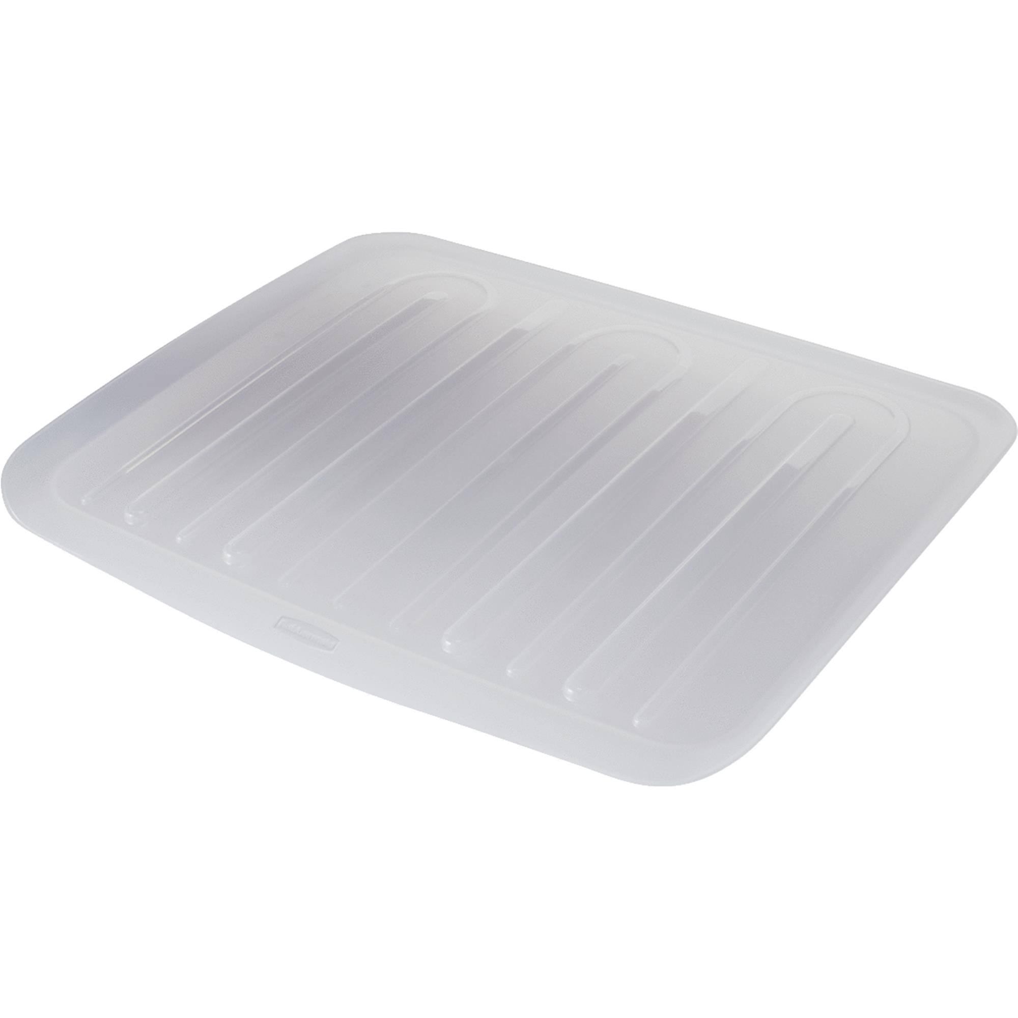 Rubbermaid Dish Drainer Tray - Clear, Large