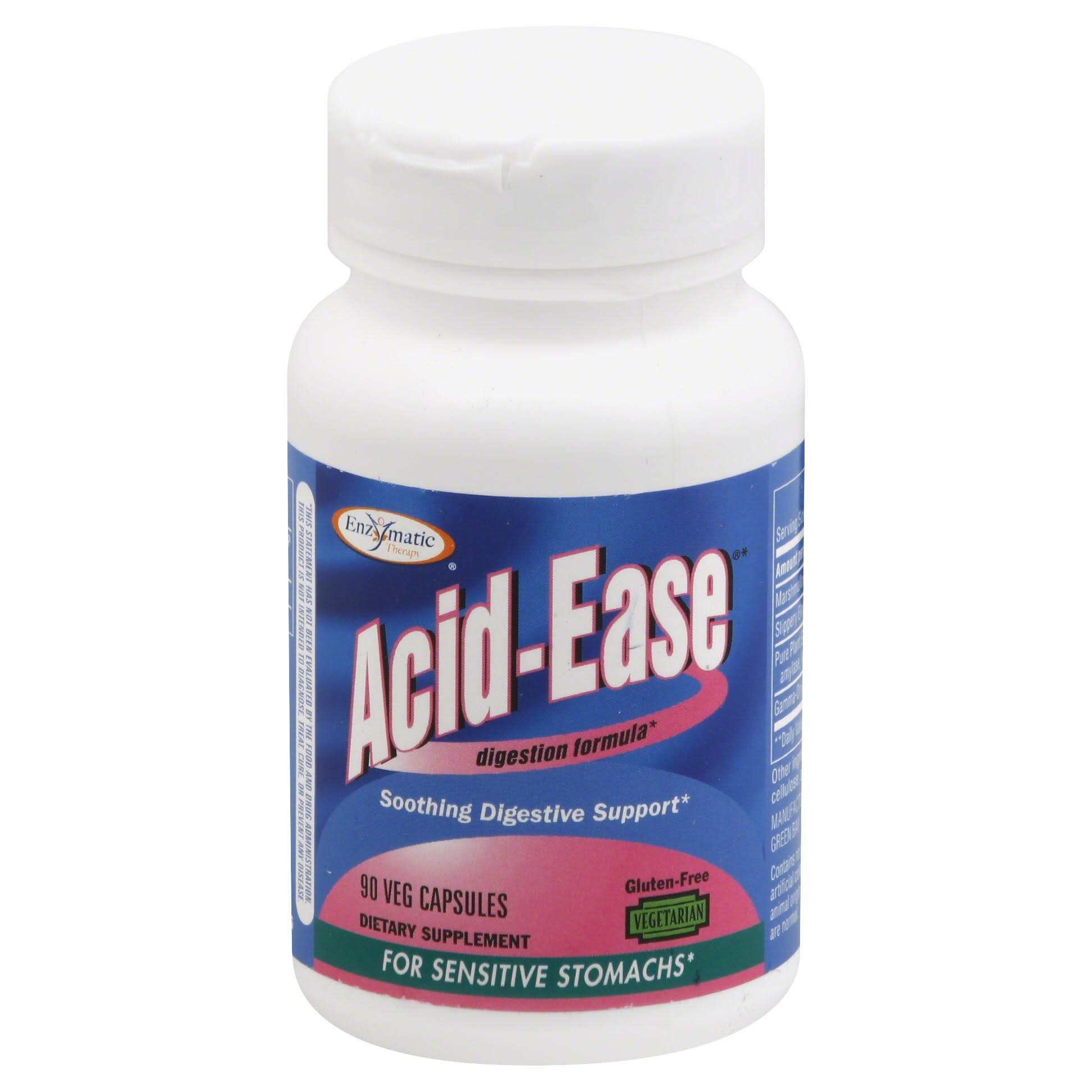 Enzymatic Therapy Acid-Ease, Veg Capsules - 90 capsules