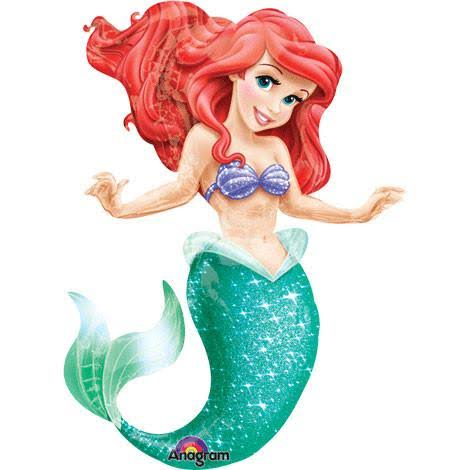 Anagram International Little Mermaid Air Walker Foil Balloon - 96 x 134cm