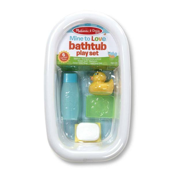 Melissa & Doug Mine to Love Baby Doll Bathtub and Accessories Set, White