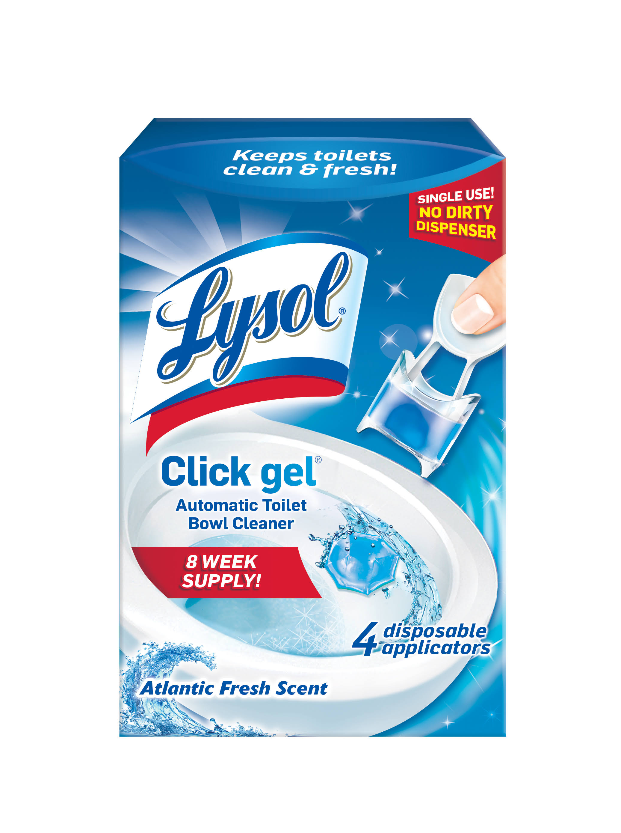 Lysol Automatic Toilet Bowl Cleaning Click Gel - Ocean Fresh Scent, 4 Pack