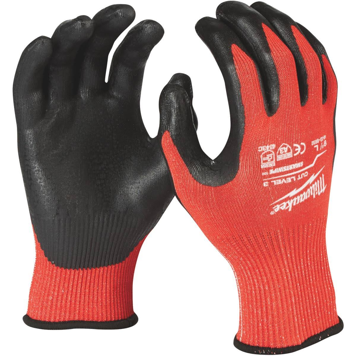 Milwaukee Cut Level 3 Dipped Work Gloves - Red, X-Large